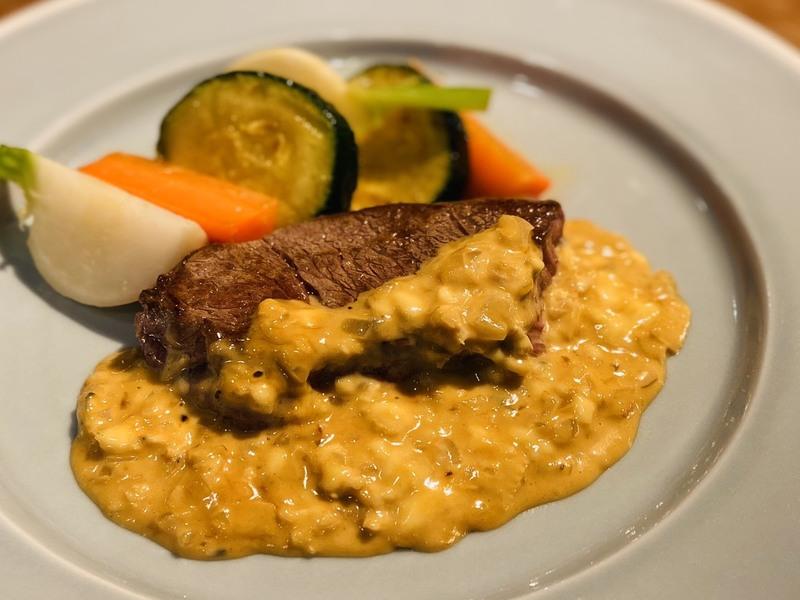 【アレンジレシピ】ステーキのブルーチーズソース