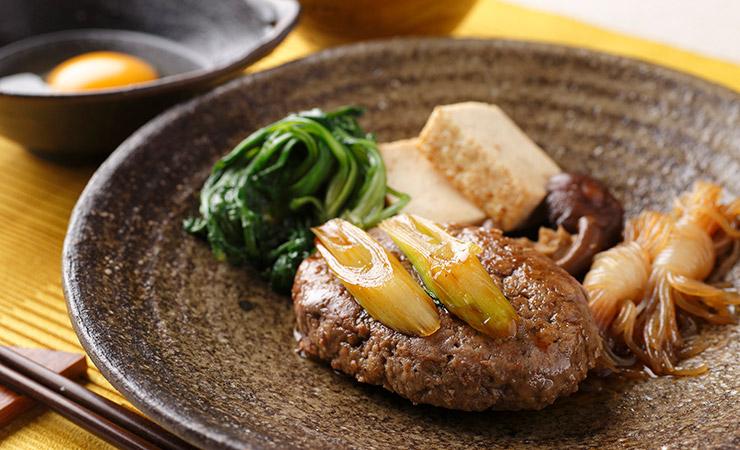 【アレンジレシピ】奥出雲和牛のプレミアムハンバーグすき焼き仕立て